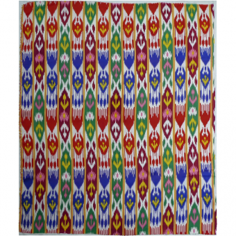 Uzbek Silk Ikat beautiful pattern per Yard