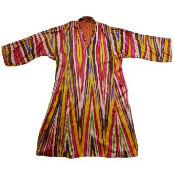 warm Vintage uzbek traditional men/'s robe coat handmade from velvet fabric