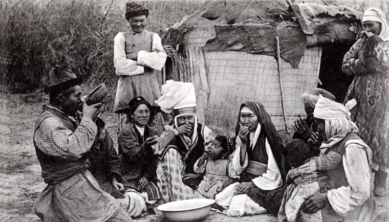 Archival Photograph - Kyrgyz Family